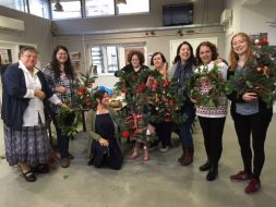 wreath making workshop group